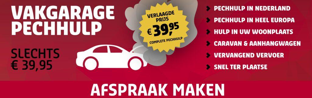 Vakgarage Pechhulp vanaf slechts 39,95 bij Autoweerd Utrecht