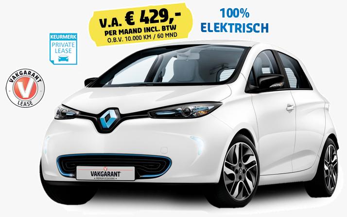 Renault ZOE prive leasen bij Vakgarage Autoweerd Utrecht