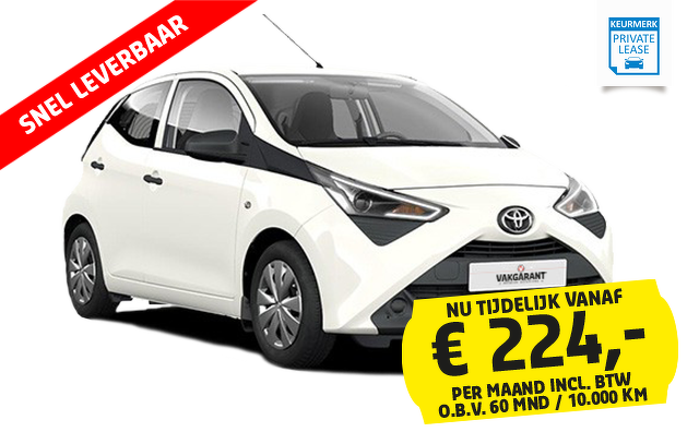 private lease vakgarage autoweerd toyota aygo x-fun